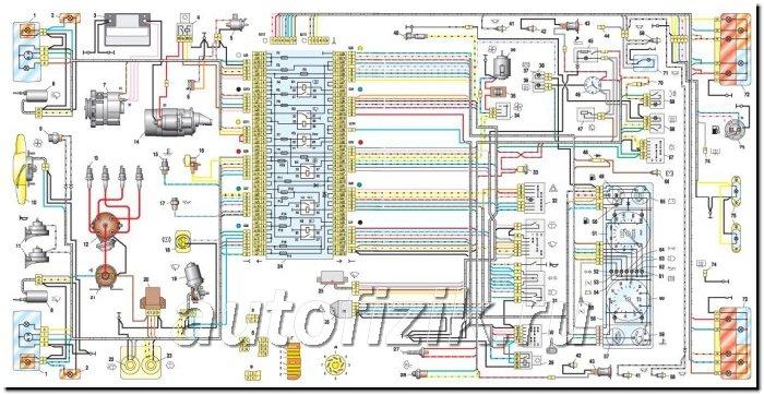 Электросхемы ВАЗ 2110