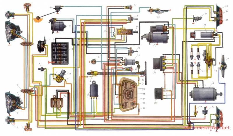 Заз 1102 схема электрооборудования фото 914